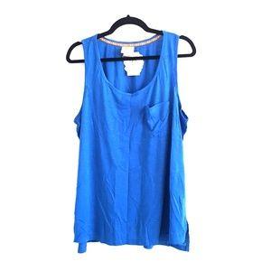 Belle du Jour blue tank top